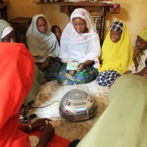 Women gather for Ku Saurara project activities in Kano, Nigeria.